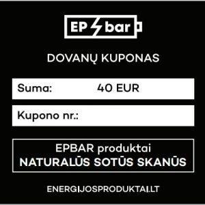 EPBAR Dovanų kuponas 40 EUR