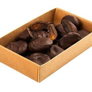Natūralūs džiovinti abrikosai juodajame šokolade 200 g
