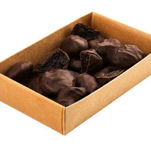 Natūralios džiovintos slyvos juodajame šokolade 200 g