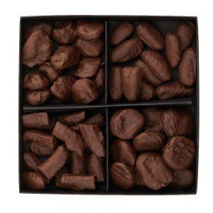 Džiovintų vaisių šokolade asorti